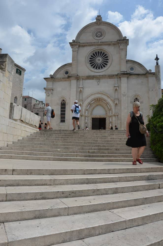 Croatia, Sibenik – stairs to cathedral, July 2014 (Sibenik)