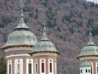 Romania, Sinaia – top of church, Apr. 2014