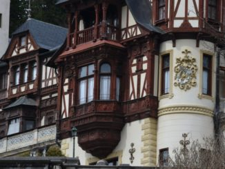 Romania, Sinaia – details of castle, Apr. 2014