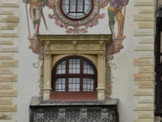 Romania, Sinaia – castle windows, Apr. 2014