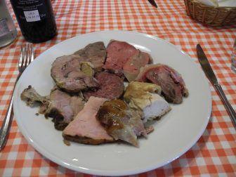 Piatto a base di carne a Solferino