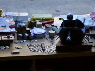 Spain, Toledo – work bench, Mar. 2014