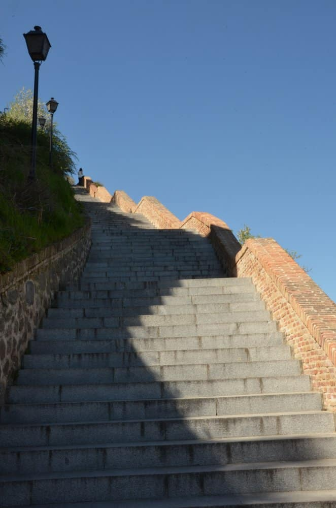 Very long staircase