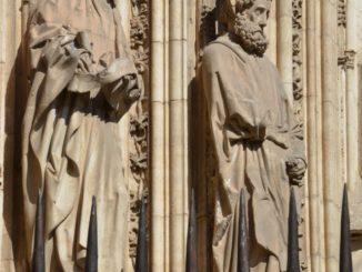 Spain, Toledo – details of entrance, Mar. 2014