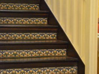 Spain, Toledo – stairs in restaurant, Mar. 2014
