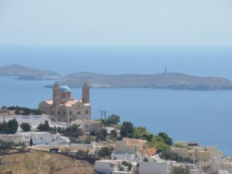 Greece, Syros, Ano Syros – view, Sept.2013