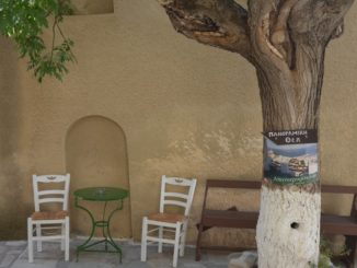 Greece, Syros, Ano Syros – white chairs, Sept.2013
