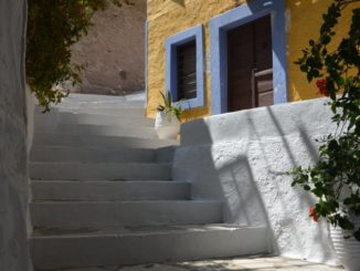 Greece, Syros, Ano Syros – white stairs, Sept.2013