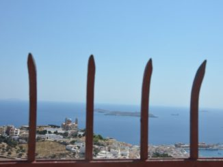 Greece, Syros, Ano Syros – fence, Sept.2013
