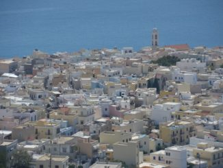 Greece, Syros, Ano Syros – town below, Sept.2013