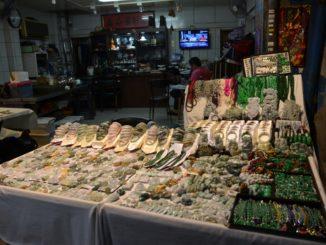 Il mercato delle pietre di Taipei
