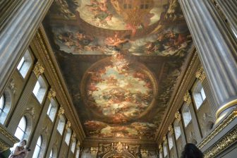 England-London-Greenwich-Old Royal Naval College-The Painted Hall-ceiling