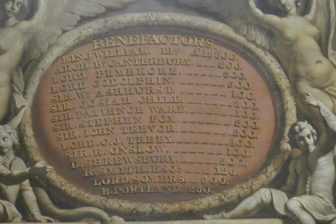 England-London-Greenwich-Old Royal Naval College-The Painted Hall-Benefactors