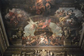 England-London-Greenwich-Old Royal Naval College-The Painted Hall-paintings