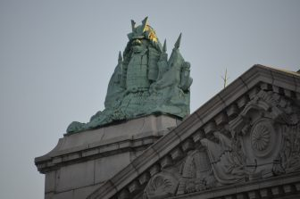 Japan-Tokyo-Akasaka Palace-State Guest House-statue-Samurai
