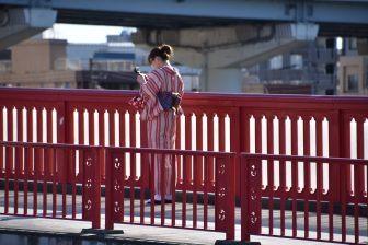 Ragazza in Kimono a Tokyo