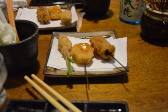 Tokyo – restaurant, deep fried skewers, Aug.2016