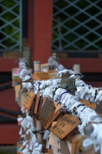 Tokyo – Nezu Shrine, wishing, Aug.2016