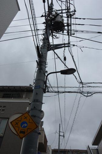 Tokyo – telegraph pole, Aug.2016