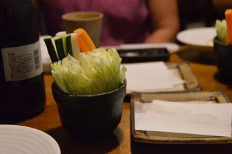 Tokyo – restaurant, salad, Aug.2016
