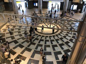 Japan-Tokyo-Tokyo Station-hall-looking down