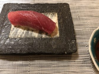 Japan-Tokyo-Staion Hotel-Sushi Aoyagi-toro-sushi