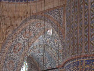 The floor of Blue Mosque