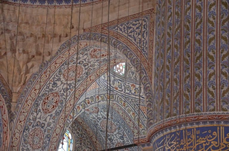 The floor of Blue Mosque