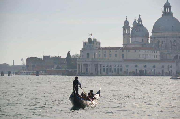 Venezia – gondola on the sea, Apr.2017 (Venice)