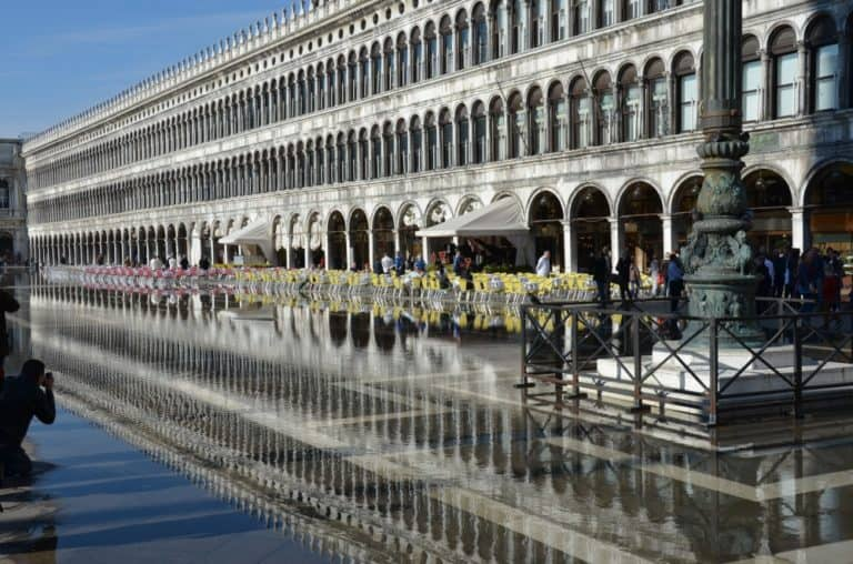 Una leggera Acqua Alta a Venezia