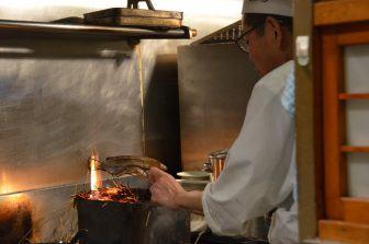 Yanaka Hyotan-Ike restaurant – cooking, Apr.2017