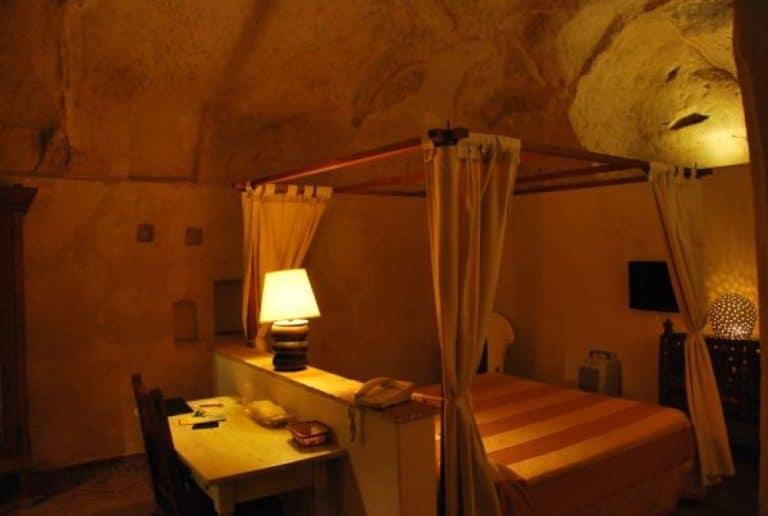 Hotel in una grotta a Matera