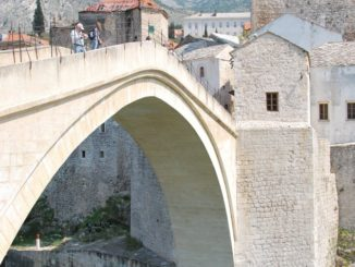 Mostar – famous bridge, Apr. 2009