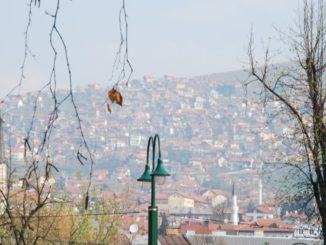Sarajevo – houses on the hill, April 2009