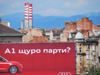Bulgaria, Sofia – insegna rossa, 2011