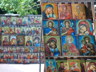 Bulgaria, Sofia – lots of icons, 2011