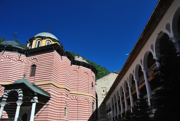 This is the Rila Monastery