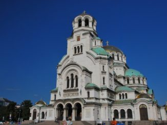 Bulgaria, Sofia – cathedral & blue sky 2011