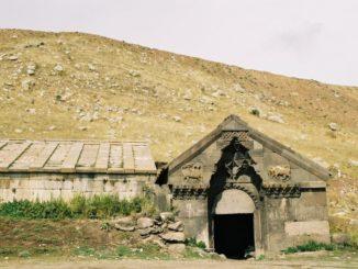 Armenia, caravansary – entrance, Autumn 2005