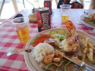 Cuba, Playa Ancon – foods and beer, spring 2010