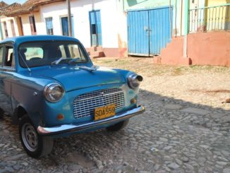 Cuba, Trinidad – small blue car, spring 2010