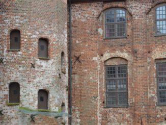 Denmark, Kolding – brick building, Aug.2012