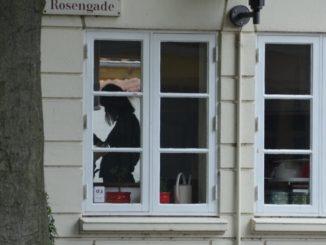 Denmark, Odense – a woman inside, August 2012