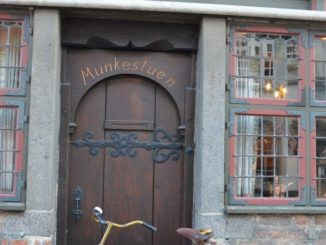Denmark, Odense – bicycle and door, August 2012