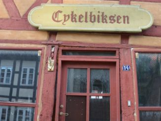 Denmark, Odense – red door, August 2012