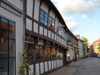 Denmark, Odense – empty street, August 2012