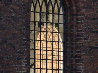 Denmark, Odense – church window, August 2012