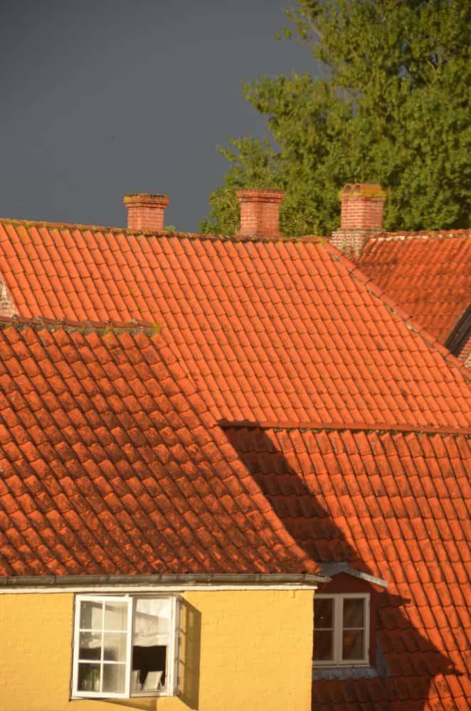 Denmark, Ribe – orange roofs, July2012 (Ribe)
