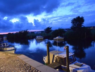 Denmark, Ribe – river in the evening, July2012