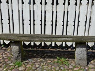 Denmark, Ribe – white fence, July 2012